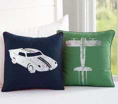 Green Aeroplanes Cushion