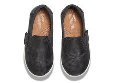 Tiny Toms | Black Canvas/Mesh Tiny Toms Avalon Slip-Ons