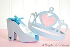 Cinderella Party Favors on a Pumpkin and a Princess