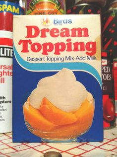 Loved a bit of Dream Topping over Tinned Fruit Salad for Sunday Tea :) Retro Recipes, Vintage Recipes, Vintage Food, 1970s Childhood, My Childhood Memories, Childhood Toys, I Remember When, Teenage Years, Retro Toys