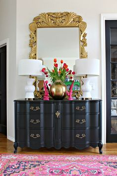 Dimples and Tangles: STYLED FOR SPRING HOME TOUR: MY ENTRY STYLED 3 WAYS