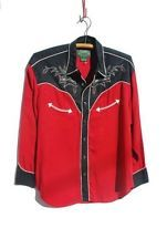 RALPH LAUREN.........Vintage Southwestern Country Cowboy Western Shirt  L