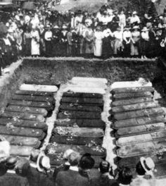Showmen's Rest in Chicago is the site of a mass grave full of clowns and other circus performers who died in the Hammond circus train wreck in 1918. http://www.cultofweird.com/death/showmans-rest-circus-graveyard-chicago/