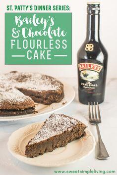 Bailey's & Chocolate Flourless Cake - Sweet Simple Living