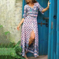 Bohemia Style Fashion Vacation Dress Mode Indie, Mode Boho, Bohemia Style, Boho Stil, Vacation Dresses, Vacation Wear, Vacation Style, Vacation Clothing, Mode Hijab