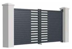 46 Ideas For Pergola Moderne Aluminium Gate Wall Design, Grill Gate Design, House Main Gates Design, Steel Gate Design, Front Gate Design, House Front Design, Door Design, Gate Designs Modern, Modern Fence Design