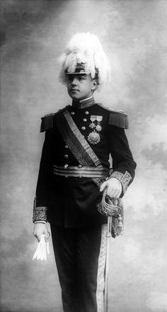 King Manuel II, in 1908