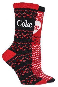 Coca Cola Ladies 2 Pair Coca Cola Fair Isle True Socks If you heart Coke, then show your love with these Coca Cola Fair Isle True Socks ndash Coca Cola Gifts, Coca Cola Cake, Coca Cola Decor, Coca Cola Poster, Always Coca Cola, Diet Coke, Cool Socks, Pepsi, Shopping