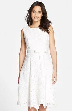988e31a96 JS Collections Floral Lace Fit   Flare Dress