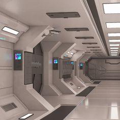 Spaceship Interior, Futuristic Interior, Spaceship Design, Retro Futuristic, Futuristic Technology, Black Bedroom Design, Science Fiction, Cyberpunk City, Property Design
