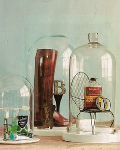 Decorative Bell Jars | Then again, don't hesitate to include odds and ends from nature ...