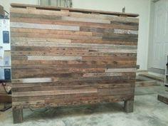 Heart pine 2 x 4 queen size headboard