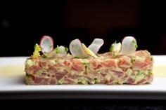 Curried Tuna Tartar: Yellowfin Tuna, Celery, Radish, Shallots, and Curry Sauce