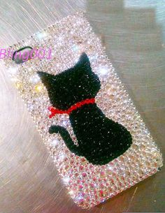 swarovski+iphone+5+case+black+cat+iPhone+case+cat+by+Bling001,+$25.00