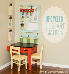 Want to give Dominique's table another paint job and make a homework station like this