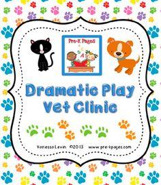 Dramatic Play Vet Clinic Kit for Pre-K and Kindergarten