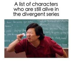 way less in divergent after allegiant mockingjay is SOOO cheerful after reading that wonderful (and depressing) novel. i have yet to read the maze runner- BUT I BET THE MAIN CHARECTER LIVES Divergent Memes, Divergent Hunger Games, Divergent Fandom, Divergent Trilogy, Divergent Insurgent Allegiant, Humor Mexicano, Book Memes, Book Quotes, Metal Memes