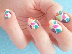 stainglass-ish nails