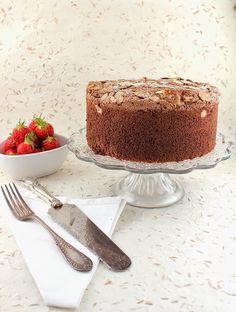 Life's a feast: Cocoa Espresso Almond Passover Sponge Cake (gluten free) Almond Torte, Almond Cakes, Vanilla Rum, Cocoa Cake, Chocolate Espresso, Gluten Free Cakes, Sponge Cake, Cake Batter, Snacks