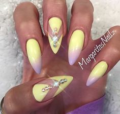 Ombre stiletto nails