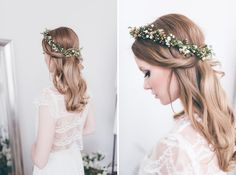lace crop top details // wedding hair inspiration