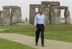 President Barack Obama tours Stonehenge in Amesbury, England. September 5, 2014.