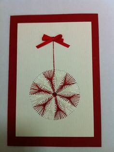 Homemade Christmas Cards, Christmas Crafts, Christmas Ornaments, Crafts To Make, Fun Crafts, Pin Card, Embroidery Cards, Christmas Tree Pattern, Comfort And Joy