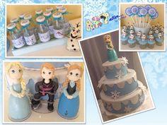 Decoração festa infantil, Frozen, Candy Bar, porcelana fria, Elsa, Olaf, Ane.