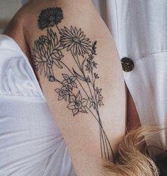 Birth Month Flowers, Call Art, Meaningful Tattoos, Beautiful Artwork, Colorful Flowers, Flower Arrangements, Bouquet, Ink, Digital