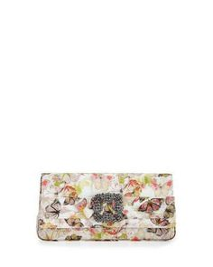 Manolo Blahnik Gothisi Butterfly Fabric Buckle Clutch Bag, Multi  ON SALE: Was $1595.00 Reduced to: $957.00  40% OFF
