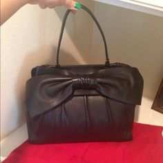 100% AUTHENTIC VALENTINO 'APHRODITE' LEATHER BAG I purchased it from Nordstrom for $2,200 and have used it lightly maybe 3 times. It is not an everyday handbag because the leather is so soft and fine but a beautiful going out bag. I will sell it for $1,800. Its like brand new. COMES WITH ITS DUST BAG Valentino Bags