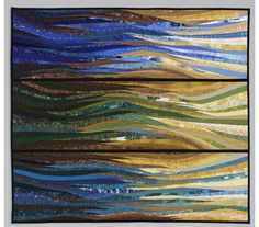 Stormy coast. Modern art quilt. 38x42 inches. Pieced and quilted. Original textile art. Contemporary fiber. Wall art. Nautical quilt. OOAK. by AnnBrauer on Etsy