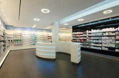 Farmacia Ibañez - Gavà | Barcelona #farmacia #pharmacy Hospital Pharmacy, Pharmacy Store, Pharmacy Design, Retail Design, Science Store, Cosmetic Shop, Shops, Store Design, Home Interior Design