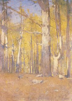 Emil Carlsen Trees in Autumn (also called Yellow Forest), c.1905