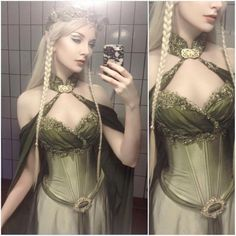 Costume Renaissance, Elf Costume, Fairy Costumes, Halloween Cosplay, Fairy Cosplay, Girl Halloween, Halloween Outfits, Olaf Halloween, Halloween Makeup
