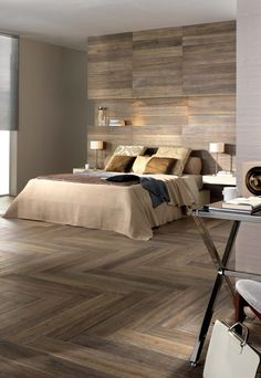 Laminate Flooring Colors Laminate flooring on walls for a warm and luxurious feel of the interior - Little Piece Of Me. Laminate Flooring On Walls, Bedroom Interior, Bedroom Design, Master Bedrooms Decor, Bedroom Decor, Flooring On Walls, Luxury Bedroom Decor, Interior Design, Bedroom Flooring