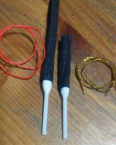 手作り雛飾り お雛様 お内裏様 一対 つ く り か た 材料は エコクラフト 15mm幅 約30c