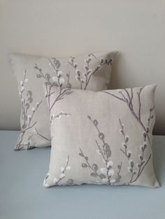 """2 Laura Ashley Pillow Covers - Home Decor - Decorative Pillow - 12"""" x 12""""  16"""" x 16""""- bedroom pillows - couch pillows on Etsy, £56.00"""