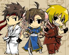 Street Fighter - Ryu, Chun-Li, Ken