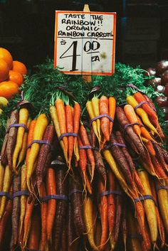 Rainbow carrots at Farmer's Market/