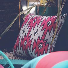 Aztec goodness. New collection - now live  #aztec #pattern #print #cushions #homewares #homedecor #interior #interiordesign #purple #grey #style #gabeandnix
