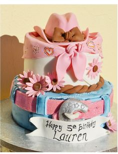 Cowgirl Cake: combined favorite... But something is off with the hat