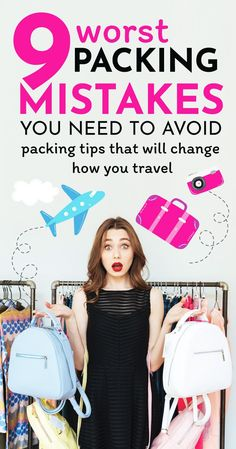 The best packing tips for your vacation: avoid these mistakes and you will be able to sort out your suitcase in no time! #packinglist #packingtips #packing #traveltips