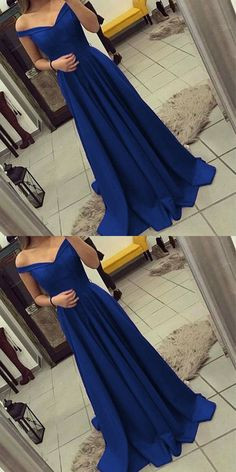 2018 new fashions off the shoulder Formal Dress Prom Dresses Sexy Royal Blue Evening Gowns	#burgundypromdress #offtheshoulder #promdress #promdresses #promgown #promgowns #long #prom #modestpromdress #newpromdress #royalblue #newstyles