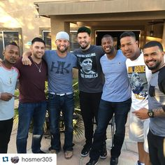 The boys in blue are back at it!  Squad  #Repost @hosmer305 ・・・ Chilling with some champs!