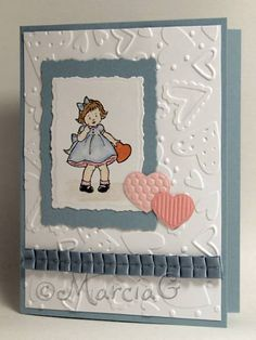 Little Valentine in Blue by AbbysGrammy - Cards and Paper Crafts at Splitcoaststampers