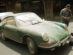 Barn find: an Irish Green 1966 Porsche 912 that's been sitting in a barn for over 20 years.