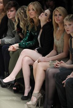 This picture of Kristen Stewart at the Burberry Prorsum Fall 2010 show has all the drama, apathy and glamour required from a front row attendee. Claire Danes, Mia Wasikowska and Kate Hudson are eclipsed by KStew's casual fierceness.