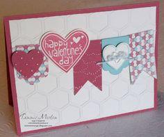 Valentine banner card.