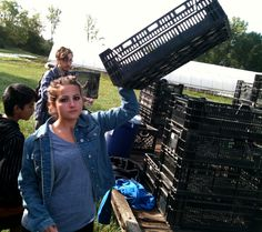Sunseed Farm - September trip - community service project
